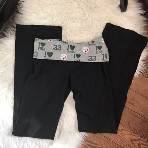 VS PINK pittsburgh Steelers yoga pants